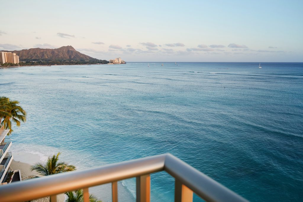 view from Outrigger Reef Waikiki Beach Oceanview suite